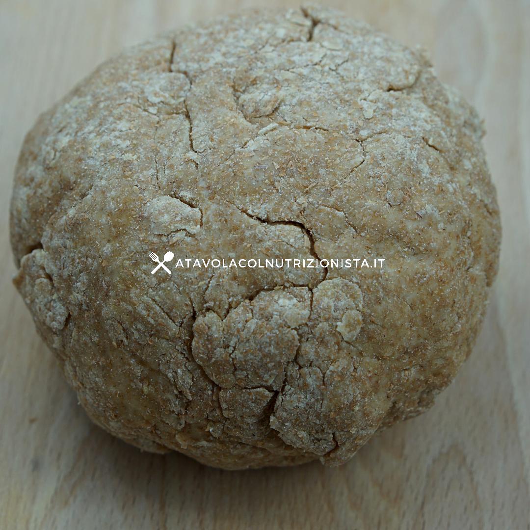 Pasta frolla integrale senza burro