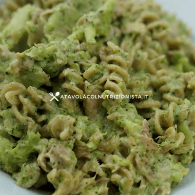 pasta integrale prosciutto broccoli e philadelphia