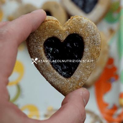 biscotti di san valentino integrali