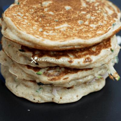 pancakes salati con zucchine