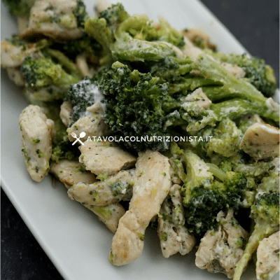 petto di pollo broccoli e philadelphia