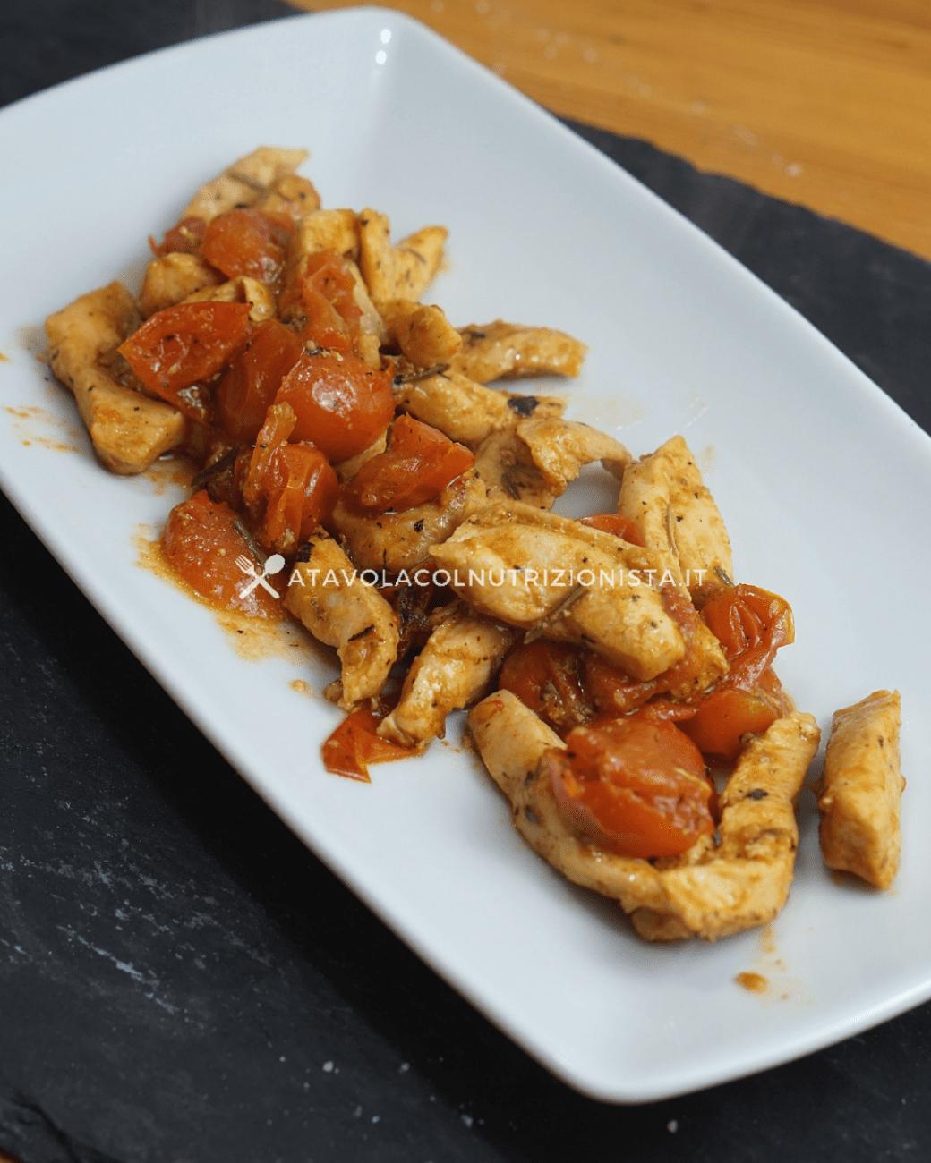 Petto di pollo coi pomodorini