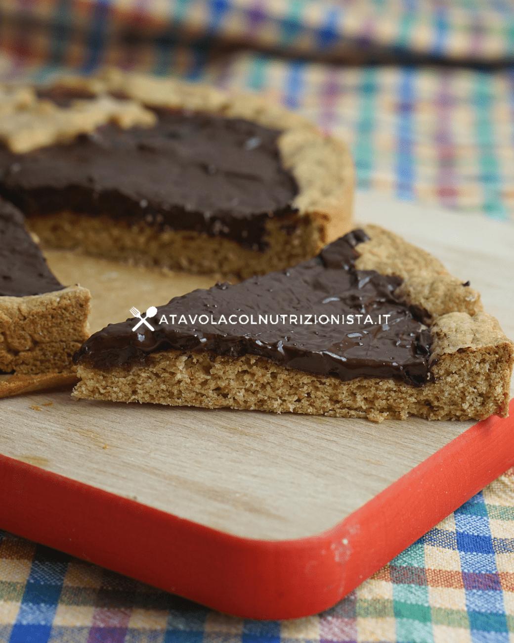 Crostata integrale fit alla cioccolata
