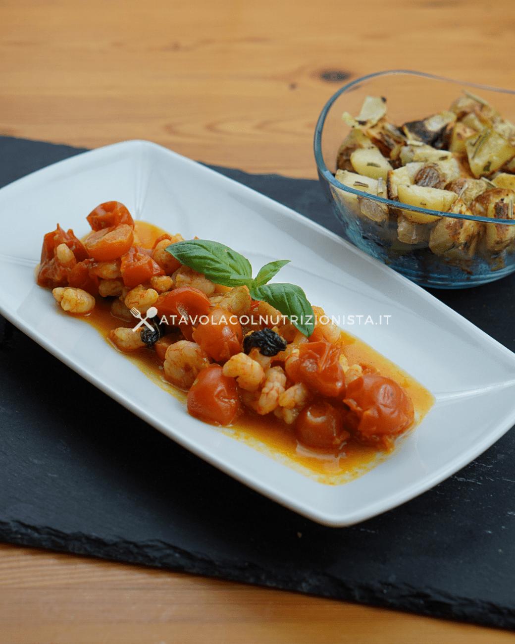 Gamberetti coi pomodorini