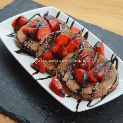 pancake fit al cacao