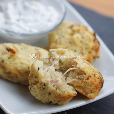 Polpette di patate con prosciutto e mozzarella