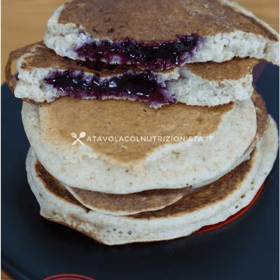 pancake light integrali ripieni di marmellata