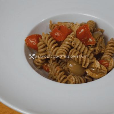 pasta risottata tonno pomodorini e olive