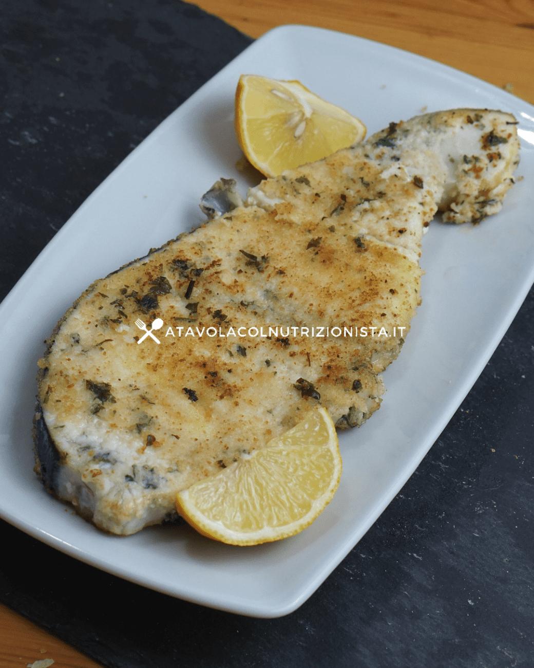 Pesce Spada al forno panato