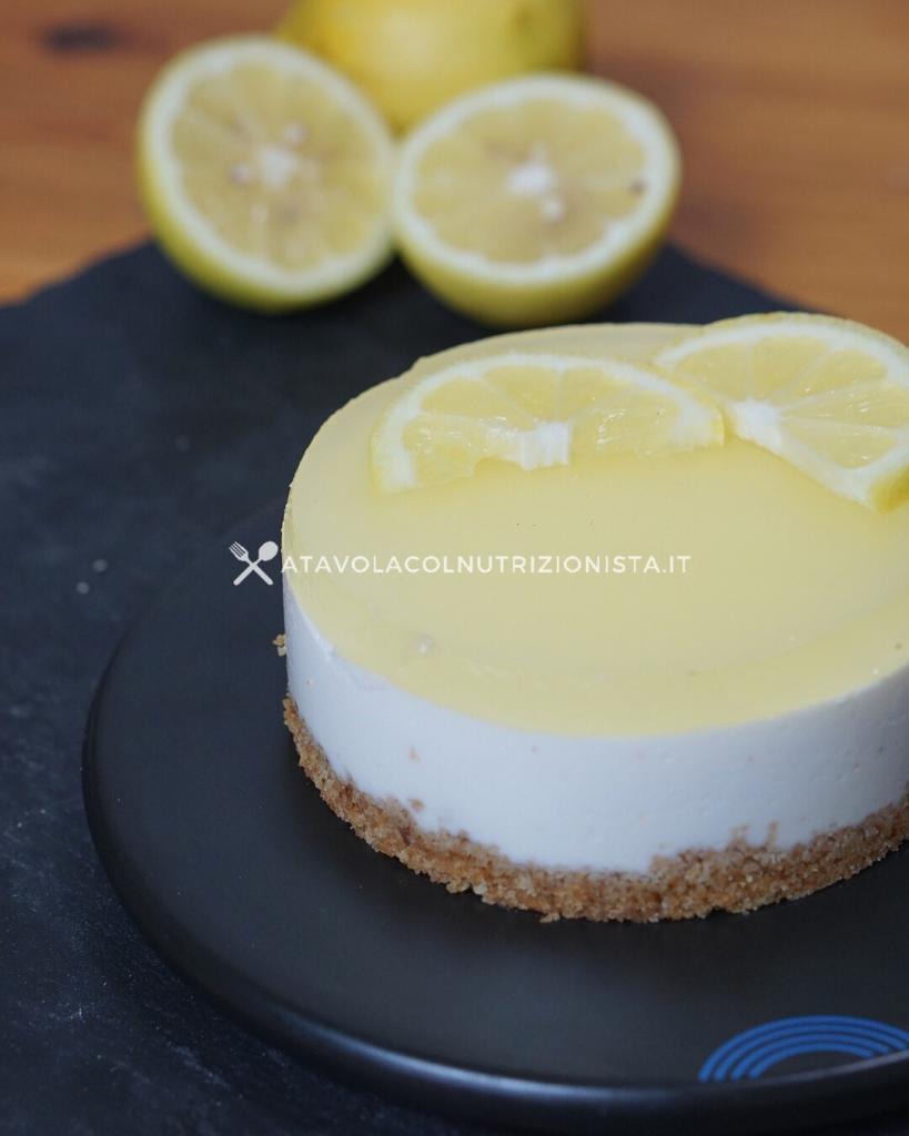 ricetta light cheesecake limone