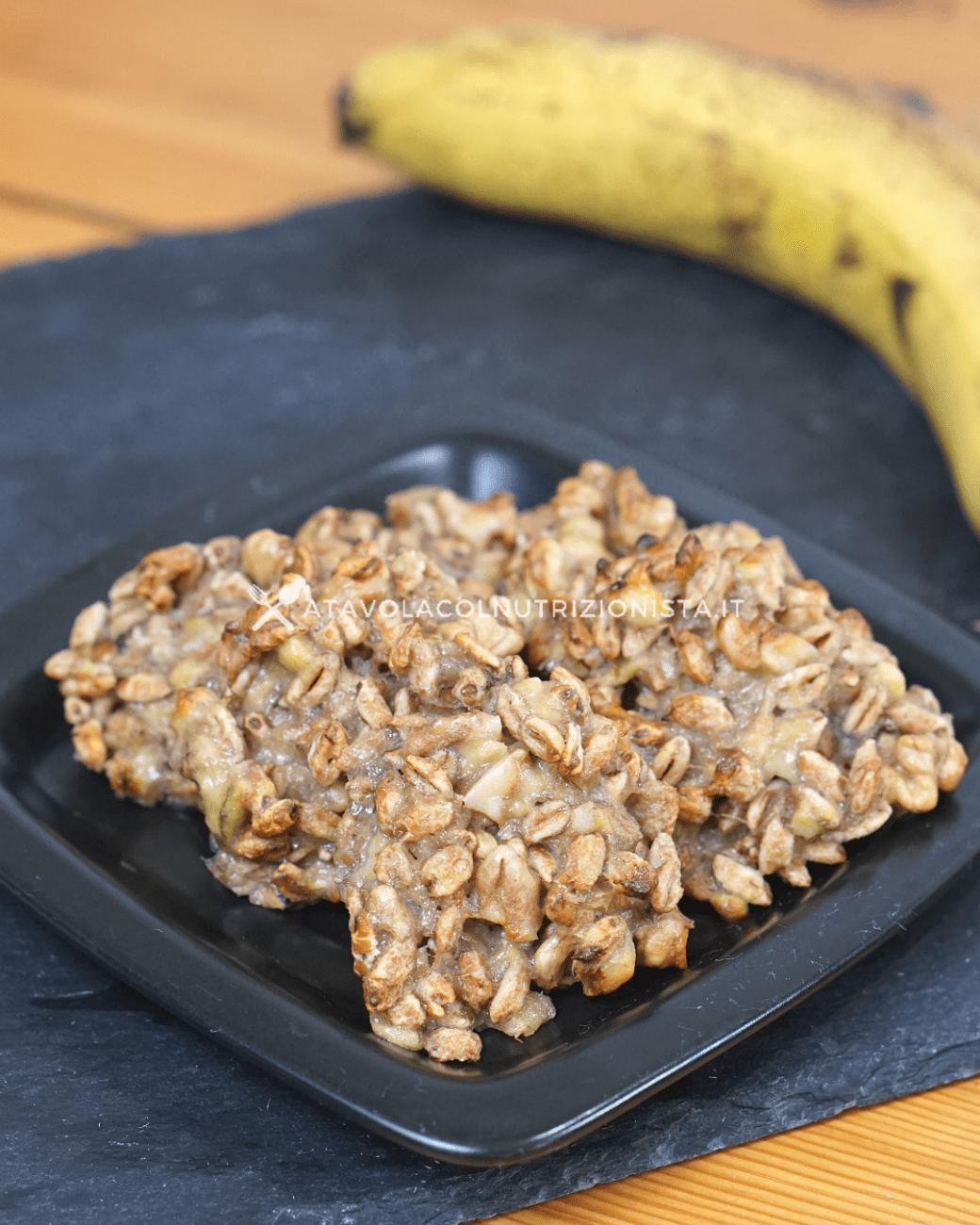 Biscotti alle Banane – Ricetta Vegan 3 Ingredienti