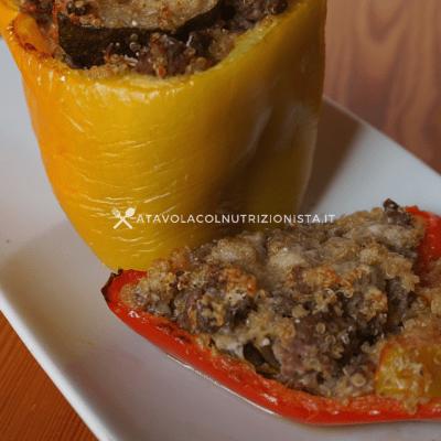 peperoni ripieni con quinoa