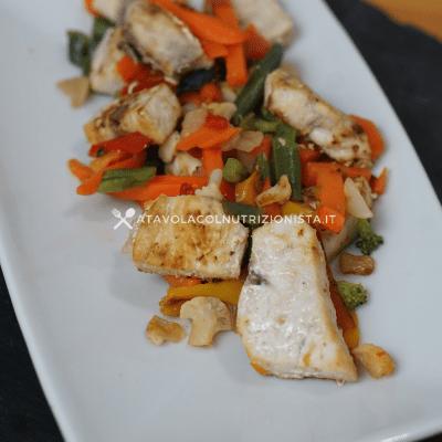 pesce spada con le verdure ricetta