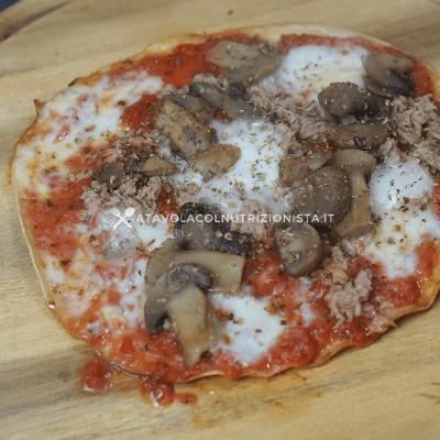 pizzetta light tonno e funghi