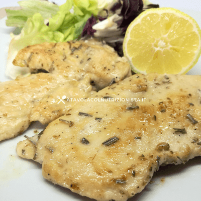 scaloppine di pollo light