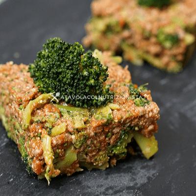 mattonella di carne con i broccoli