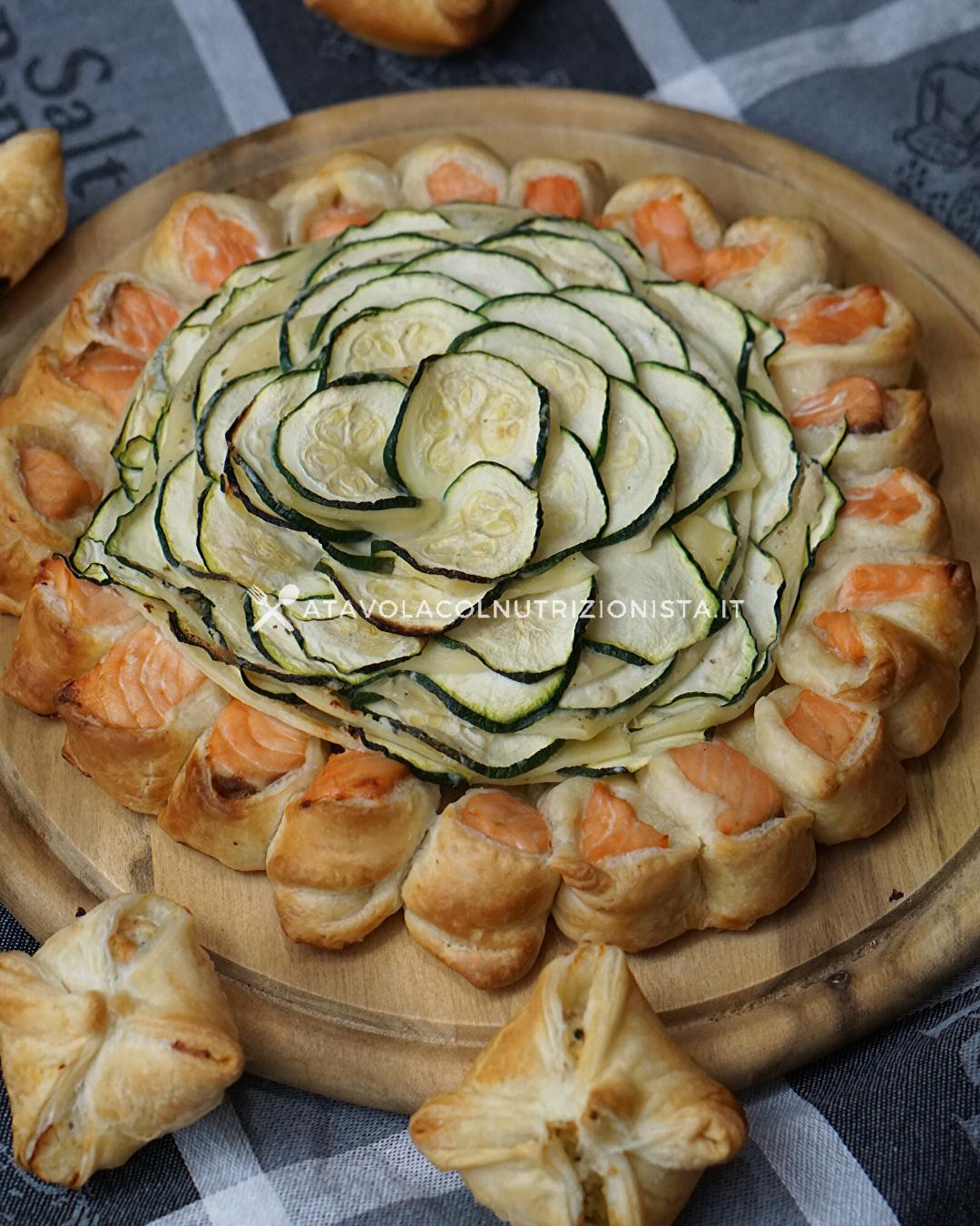 Ricetta Quiche Salmone E Zucchine.Ricetta Light Torta Salata Salmone E Zucchine A Tavola Col Nutrizionista