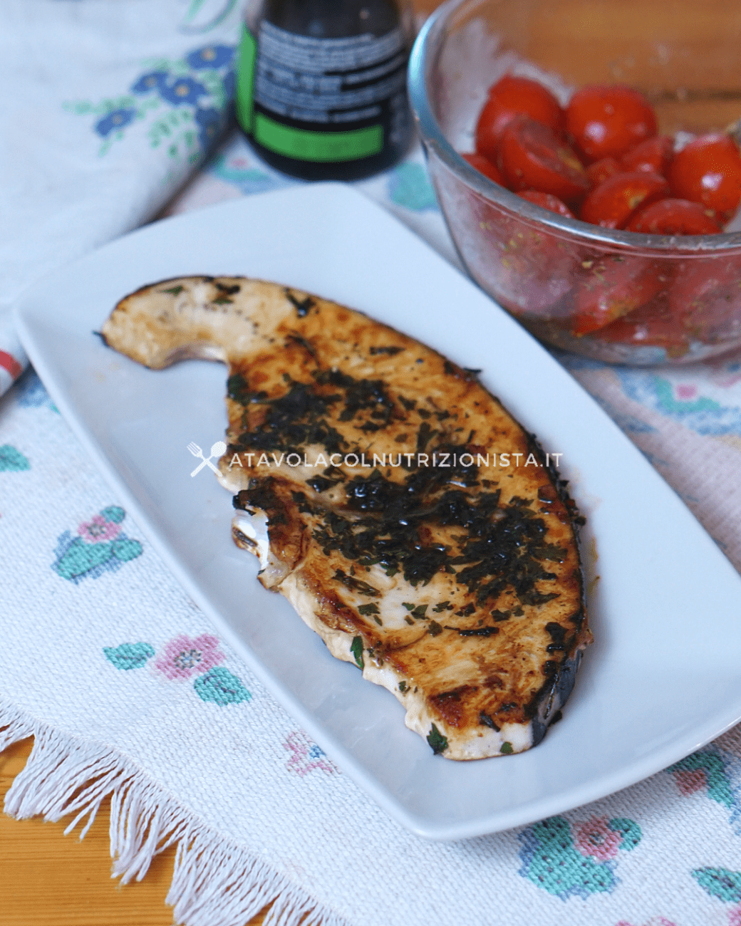 Pesce Spada alla Griglia con Salsa di Soia