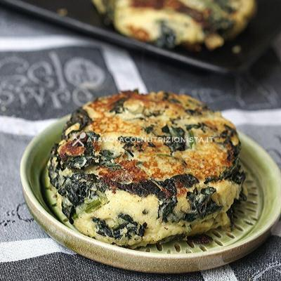 burger vegetale patate e cavolo nero
