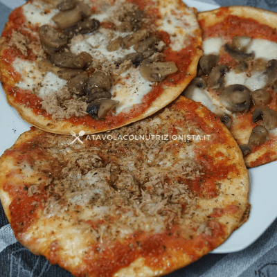 pizzette di tortillas
