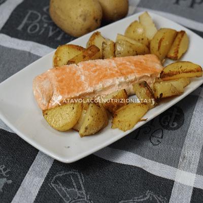salmone al forno con le patate