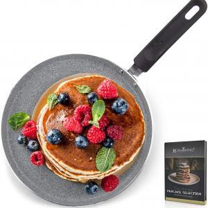Rosmarino padella per Pancake, Frittate Crepiera Professionale 25 cm per Induzione