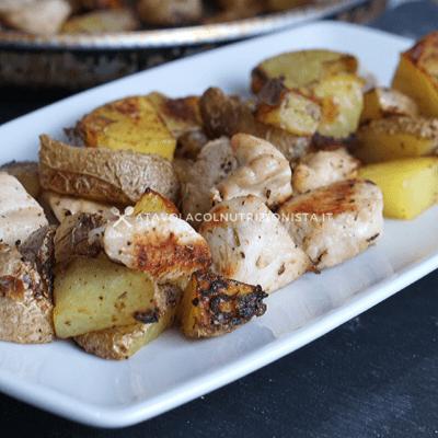bocconcini di tacchino con patate al forno