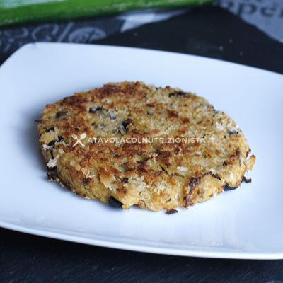 burger vegetale di patate e zucchine