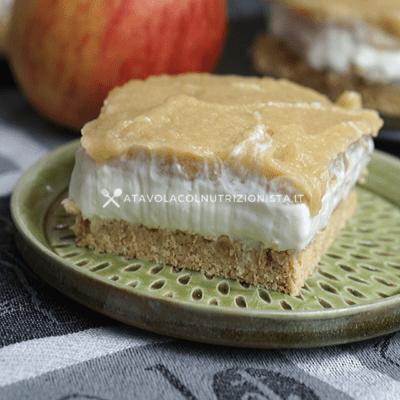 Cheesecake Light con crema di mele