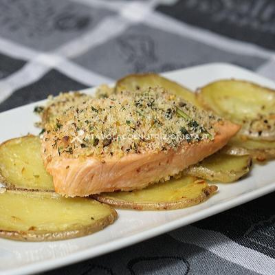 salmone in crosta di pistacchio