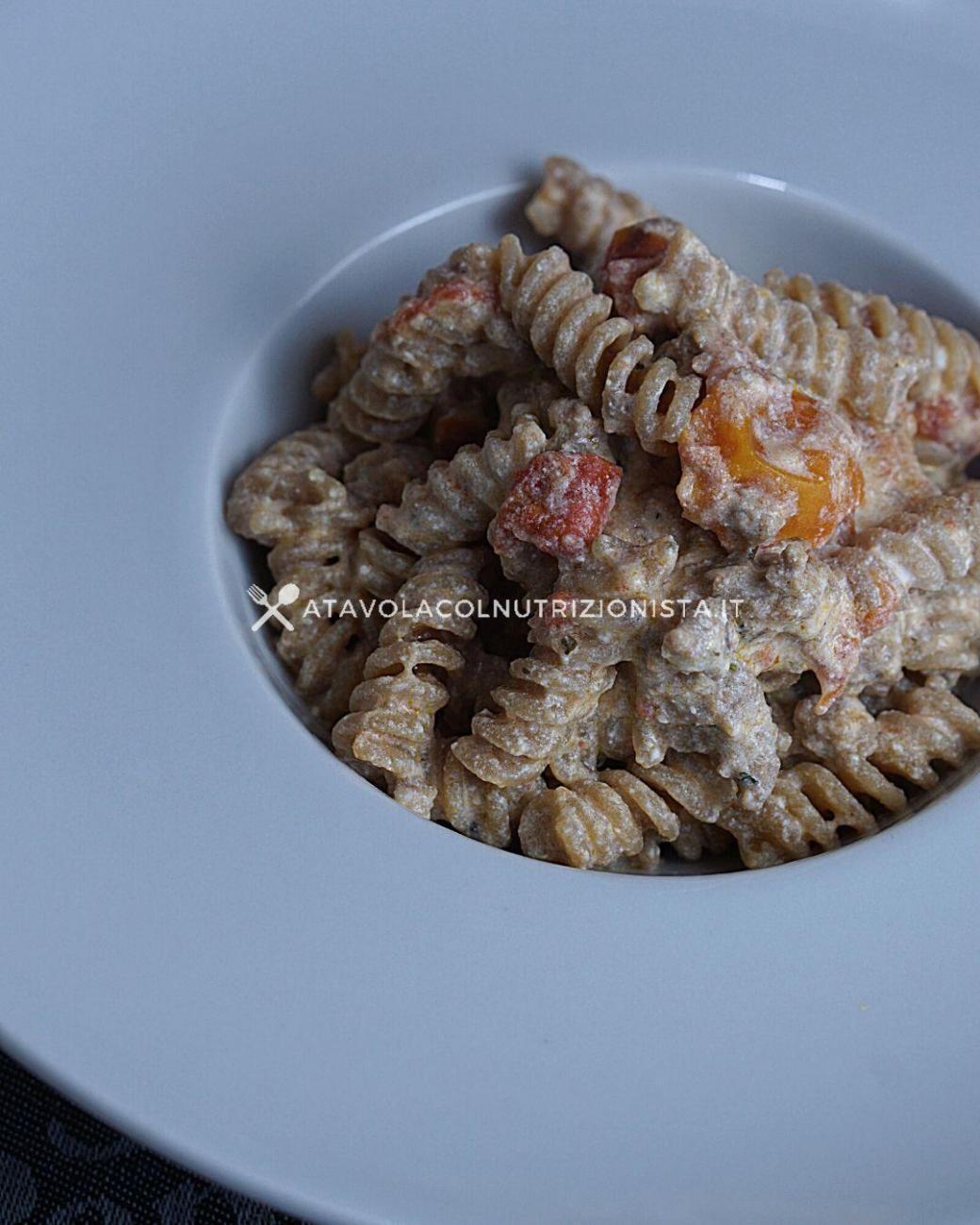 Pasta Integrale con Ricotta, Macinato e Pomodorini
