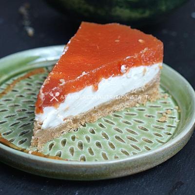Cheesecake Light all'Anguria