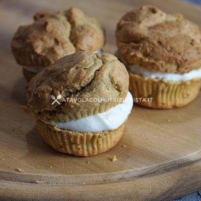 Muffin allo Yogurt Ripieni di Crema di Yogurt al Limone