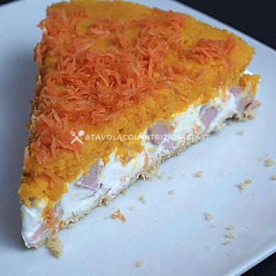 ricetta Cheesecake Salata alle Carote e Prosciutto Cotto