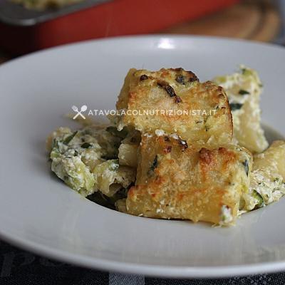 ricetta Paccheri con Ricotta e Zucchine Gratinati