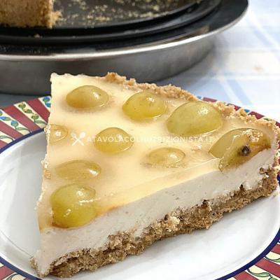Cheesecake all'Uva Senza Zuccheri Aggiunti
