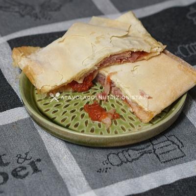 ricetta Fagottini di Pasta Fillo Prosciutto e Mozzarella