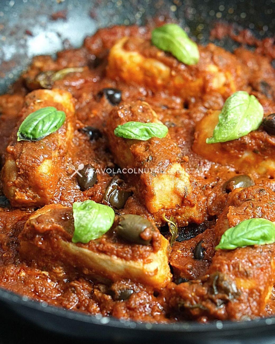 Filetto di Merluzzo Pomodoro e Olive