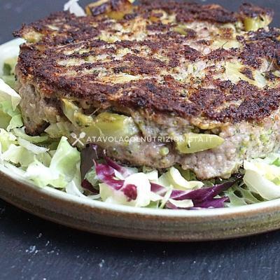 ricetta light dietetica burger manzo e broccoli