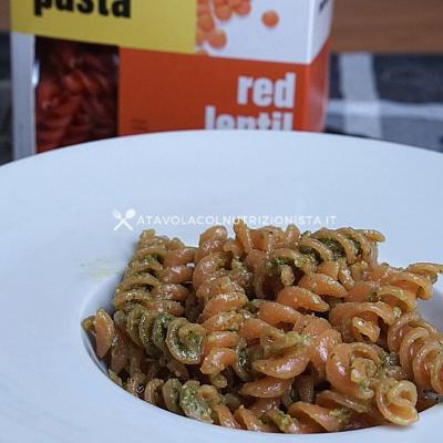 ricetta pasta di lenticchie rosse prozis al pesto