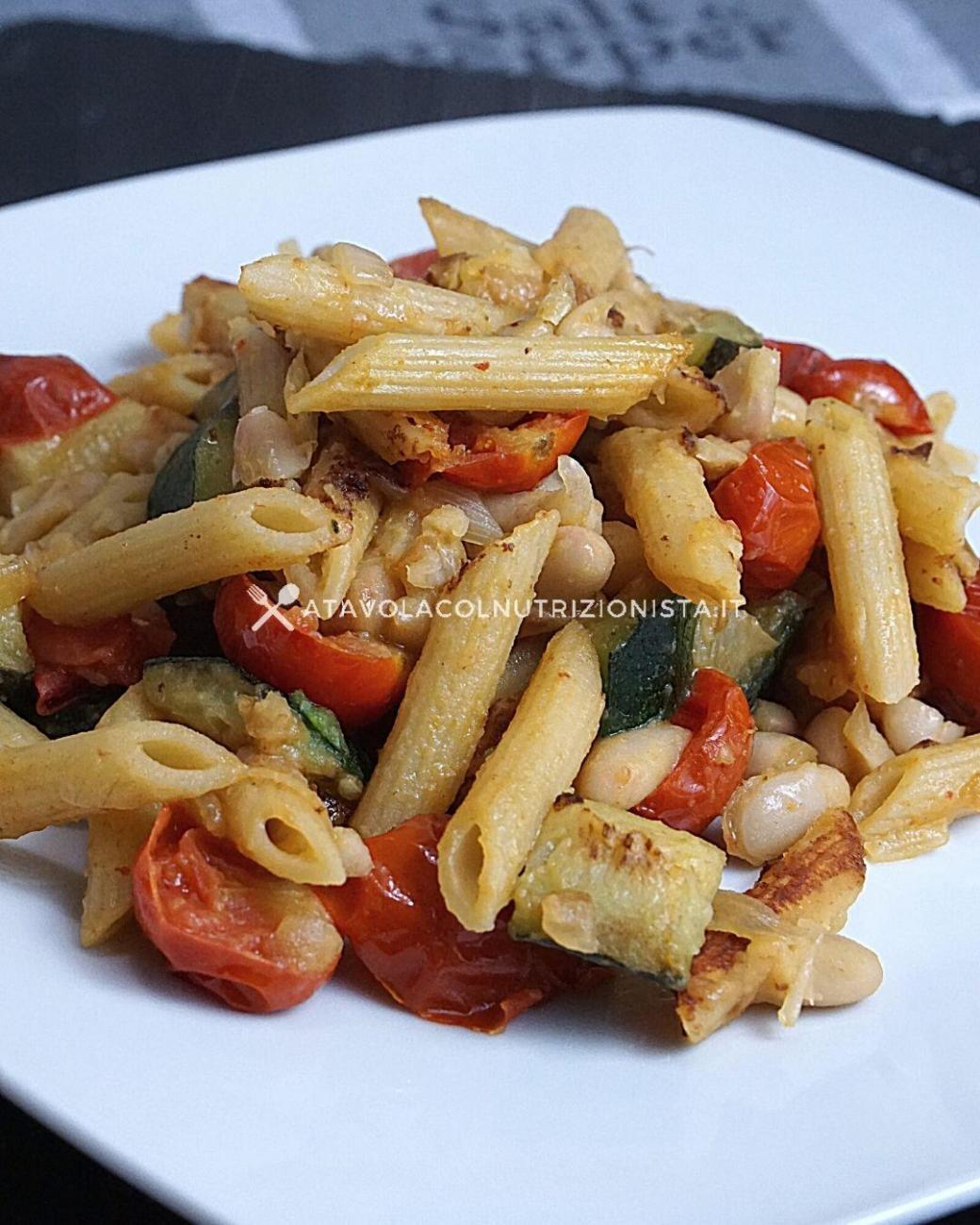 Pasta e Fagioli con Zucchine e Pomodorini