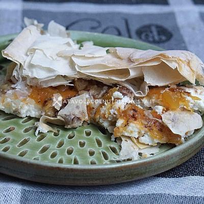 ricetta light Pasta Fillo Ripiena con Ricotta e Confettura di Zucca