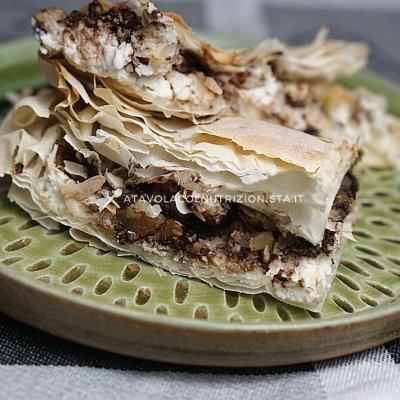 ricetta Pasta Fillo Ripiena con Ricotta e Gocce di Cioccolato