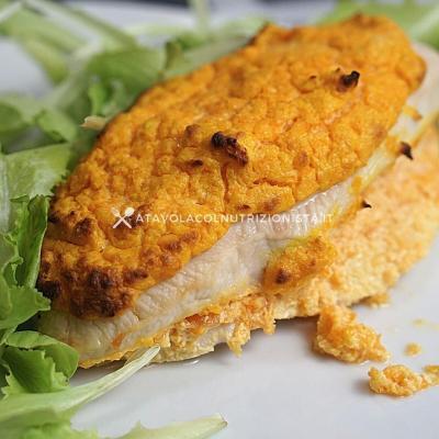 ricetta petto di pollo ripieno con crema di zucca e ricotta