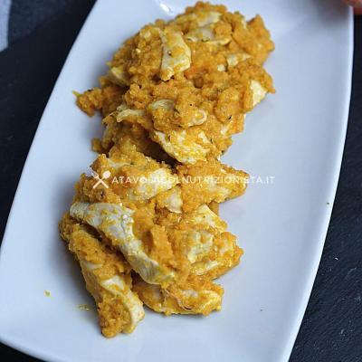 ricetta Petto di pollo con crema di carote