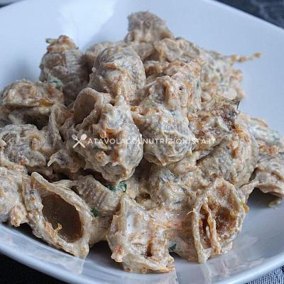 ricetta pasta integrale con crema di zucca e ricotta