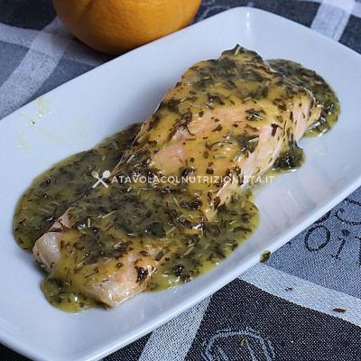 ricetta Filetto di Salmone in Salsa d'Arancia