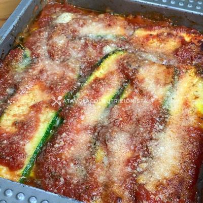ricetta Parmigiana di zucchine light