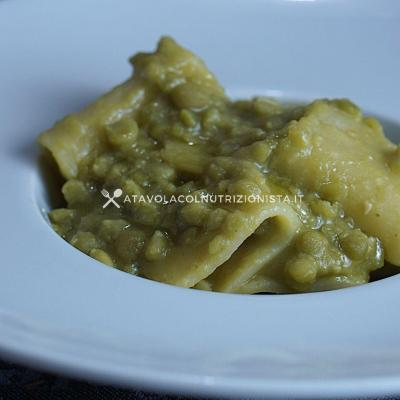 ricetta pasta con i piselli secchi