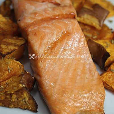 ricetta Salmone con la Zucca nella Friggitrice ad Aria